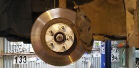 Subaru Impreza WRX Sti 4 Pot Front Brake Calipers With Discs & Pads