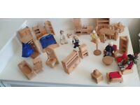 WOODEN ELC DOLLS HOUSE and furniture