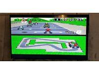 Super Nintendo Colsole For Sale, original, unboxed with 7 games, 1 x original controller