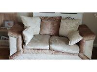 Corner sofa and 2 seater sofa