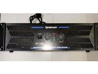 Naphon XP 1400 High Power Amplifier. 2 x 1400 @ 8 Ohms, 2 x 2100 @ Ohms, 6000 Watts Bridge Mode