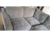 Corner sofa charcoal grey