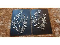 Metal and diamanté wall art new still in box