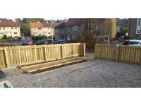 Garden landscaping, fencing & decking