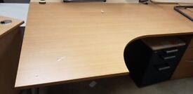 Left Hand Corner Desk- Includes Cable Port Holes