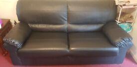 03 seater leather sofa