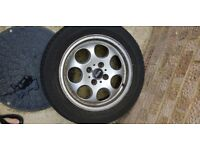 Mini alloy wheel and tyre x 1