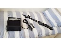 Mic, stand, cable and 20w amp