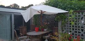 Large Teak Garden Parasol