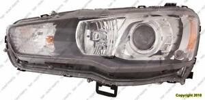 Head Light Driver Side Hid Evolution High Quality Mitsubishi Lancer 2008-2015