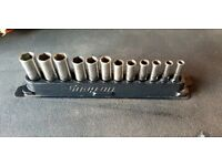 Snap on 3/8 deep Socket Set