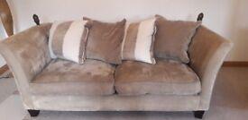 4 piece luxury Champagne sofa set