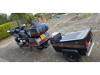 Honda 1500cc Goldwing with matching trailer