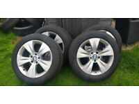 BMW X50 E70 set of genuine alloy wheels with tyres