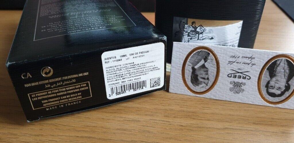 Creed Aventus 100ml Eau De Parfum Boxed In Harrow