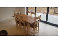 Cotswold Company Extendable Dining Table & 6 Chairs (Cream)