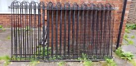 6 Metal garden fences panels and 9 polls for sale (Very good condition)