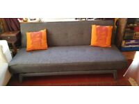 """yoko"" from MADE, sofabed - dark grey fabric mint condition"