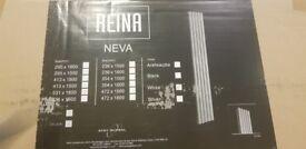 Reina neva radiators 531x1800 vertical white boxed as new