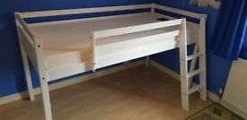 Childrens bed - Midsleeper, cabin bed frame and mattress
