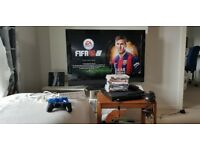 PS3 80GB & Bike for sale with 8 games+ Two controllers+ Headset+TV Stand+ HDMI cable+ Extension lead