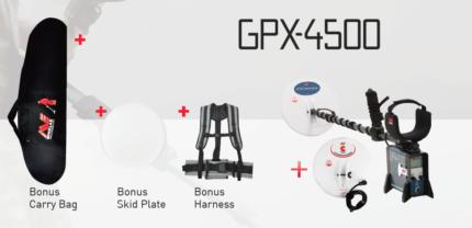 Minelab GPX 4500 Grab-N-Go Pack w/ Free Skidplate, Harness & Bag