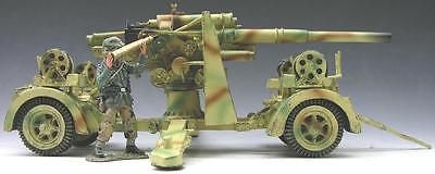 KING & COUNTRY WW2 GERMAN ARMY WS057 88MM ANTI TANK GUN SET MIB