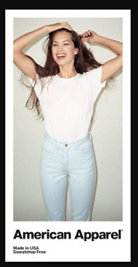 American Apparel High waisted jeans Size 26 BRAND NEW