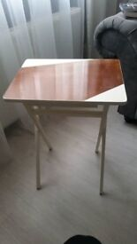 Upcycled Laptop/OnePersonDinner Table