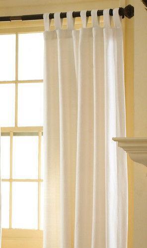 White Tab Top Curtains Ebay