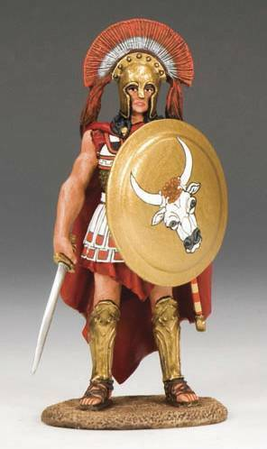 King & Country AG003 Hoplite Officer with Sword - RETIRED - Mint in the Box