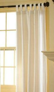 White Tab Top Curtains