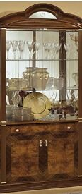 Camel Milady Walnut Italian China Cabinet - 2 Door