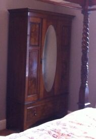 Stunning Antique Mahogany Wardrobe