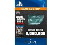Gta shark card 8,000,000 Cash