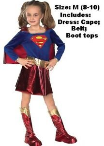 Girls Deluxe Supergirl Costume  Size M (8-100