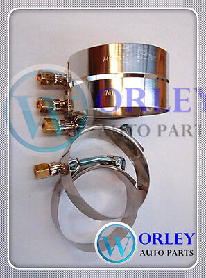 """63-70mm 57mm ID Stainless Steel T-Bolt Silicone Hose Clamp 2 x 2.25/"""" Inch"""