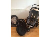 Quinny Buzz Travel System With Pushchair, Carrycot, XL Seatcover, And Extras
