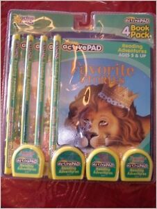 New 4X Active Mind Active Pad Learn to Read Books $25 ONLY