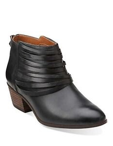 Clarks leather booties 6.5