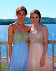 Two Different Pink/Nude Prom Dresses!