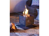 Black mesh garden fire basket - patio warmer - garden heater