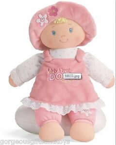 'My First Dolly' Pink Doll 33cm from Gund Baby - teddy teddie toddler