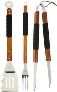 BRAND NEW DELUX BBQ TOOL SET -- THE PERFECT GIFT FOR DAD -- AMAZING SURPLUS PRICE $14.95