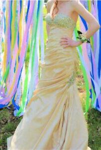 Gold Grad Dress