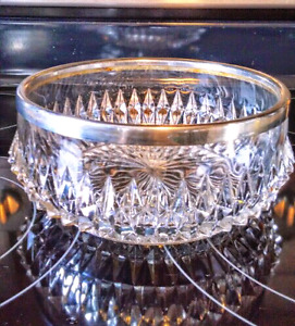 CRYSTAL and SILVER FRUIT BOWL