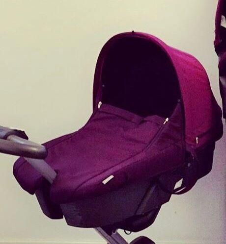 Stokke Carey cot purple