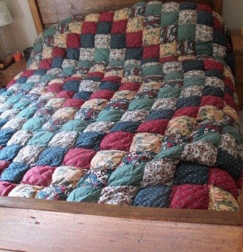Rustic King Size Patchwork Bed Throw