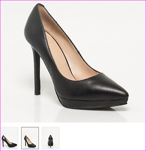 Leather Pointy Toe Heel  - Size 8