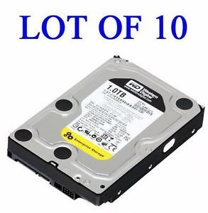 "Lot of 10 WD 1TB Western Digital RE4 Black WD1003FBYX 7200 RPM 64MB Cache SATA II 3.5"" Internal Enterprise Hard Drive"